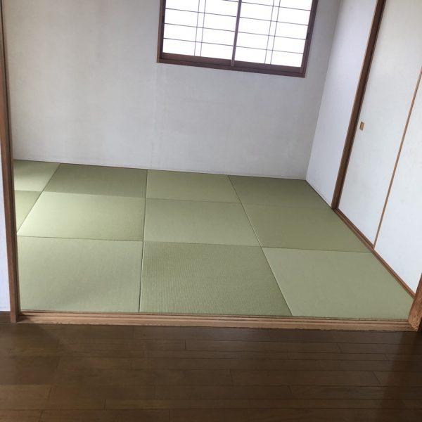 千葉市稲毛区のマンションで琉球調畳への交換と給湯器交換をさせていただきました。
